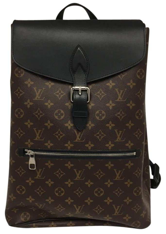 4dbb05f7d6fe Louis Vuitton Palk Brown Black Leather Backpack - Tradesy