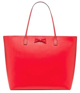 Kate Spade Leather Geniune Tote in Red