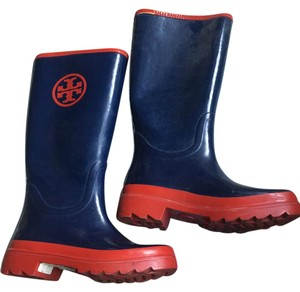 Tory Burch Navy and red Boots