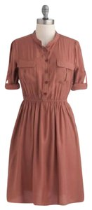 Ya Los Angeles short dress Burnt Salmon Shirt Full Skirt on Tradesy