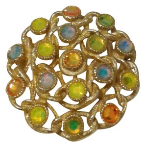 Sarah Coventry Beautiful Colorful Brooch