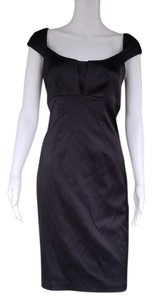 David Meister Sheath Stretch Cocktail Satin Dress