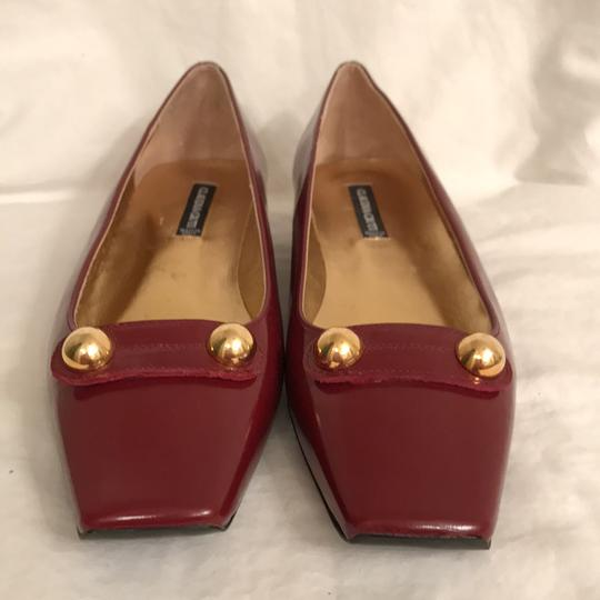 Claudia Ciuti Leather Patent Leathers Slip-ons Designer New Red Gold Flats Image 2
