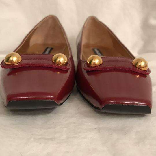 Claudia Ciuti Leather Patent Leathers Slip-ons Designer New Red Gold Flats Image 3
