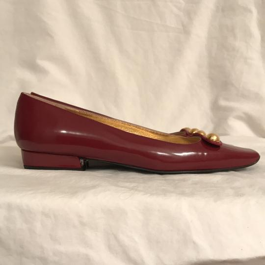 Claudia Ciuti Leather Patent Leathers Slip-ons Designer New Red Gold Flats Image 4