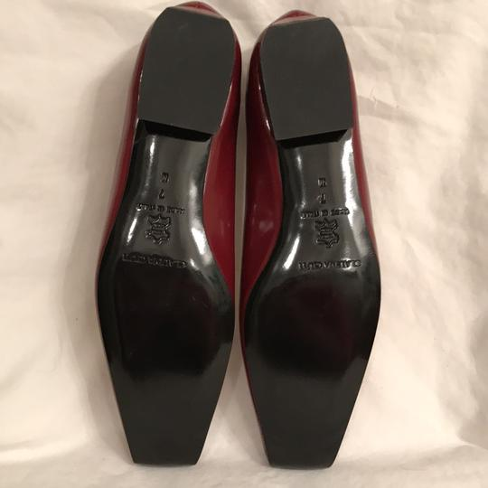 Claudia Ciuti Leather Patent Leathers Slip-ons Designer New Red Gold Flats Image 6