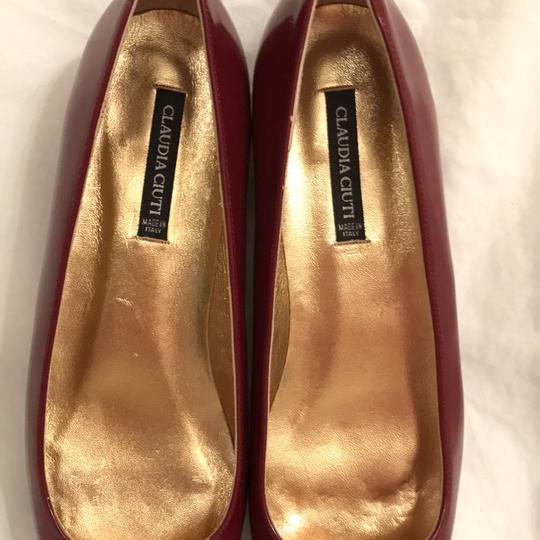 Claudia Ciuti Leather Patent Leathers Slip-ons Designer New Red Gold Flats Image 7