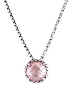 David Yurman Chatelaine Pendant Necklace with Morganite