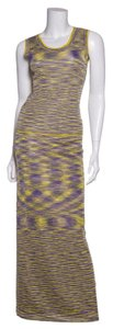 Missoni Missoni Multi Yellow & Purple 2 PC Knit Top & Midi Dress