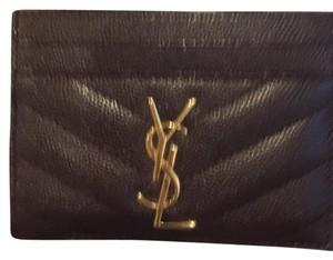 Saint Laurent quilted textured leather cardholder