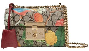 Gucci Tian Special Edition Printed Padlock Gg Shoulder Bag