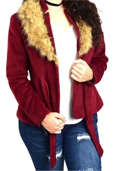 Preload https://img-static.tradesy.com/item/20539931/burgundy-wool-blend-faux-fur-collar-belted-jacket-pea-coat-size-16-xl-plus-0x-0-1-650-650.jpg