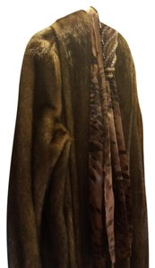 Dennis Basso Faux Fur New Full Length Fur Coat