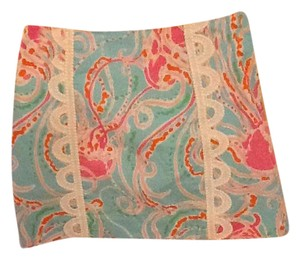 Lilly Pulitzer Mini Skirt Blues/pinks/white with subtle green