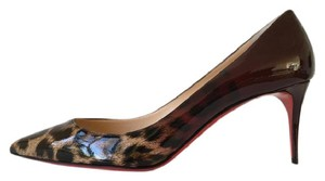 Christian Louboutin Pigalle Follies Burgundy Brown Pumps
