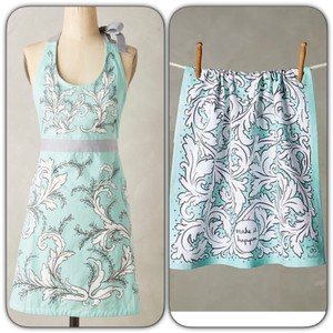 Anthropologie Apron and dish towel