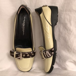 Walter Genuin Genuin Leather Patent Leather Golf Celadon (greenish yellow) Black White Athletic