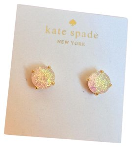 Kate Spade Opal White Glitter Earrings