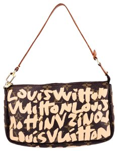 Louis Vuitton Graffiti Canvas Monogram Leather Shoulder Bag
