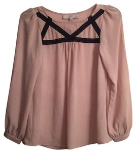 Ann Taylor LOFT Top Black and Nude