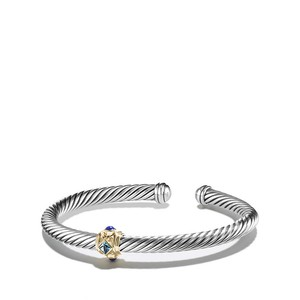 David Yurman Renaissance Bracelet with Blue Topaz, Lapis Lazuli and Gold