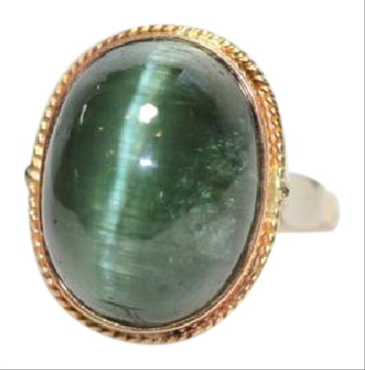 Other Green tourmaline Cat's Eye vintage ring Image 0