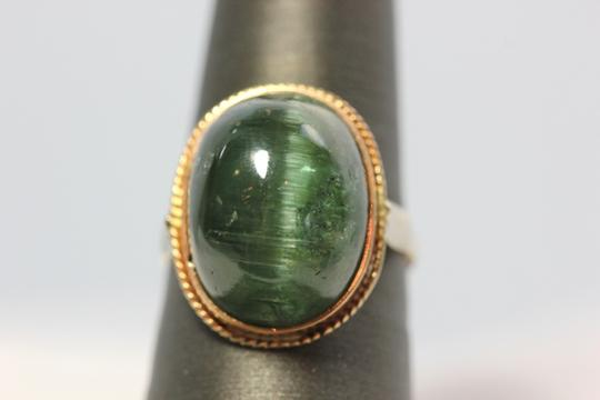 Other Green tourmaline Cat's Eye vintage ring Image 1