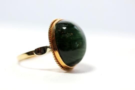 Other Green tourmaline Cat's Eye vintage ring Image 2