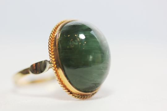 Other Green tourmaline Cat's Eye vintage ring Image 3