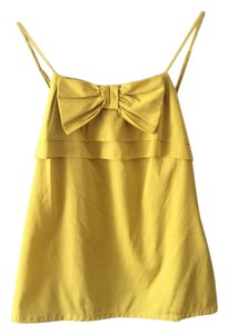 Banana Republic Sleeveless Pettite Ruffle Top Yellow