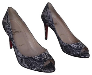 Christian Louboutin black (lace) and cream. authentic red soles. Pumps