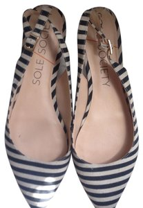Sole Society Black and White Flats