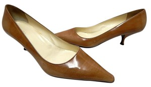 Prada Patent Leather Pointy Italy Tan Pumps