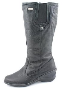 Santana Canada Pebbled Leather Winter Black Boots