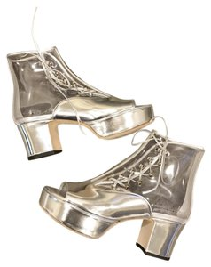 Chanel Pvc Transparent Clear Silver Silver/Clear Boots