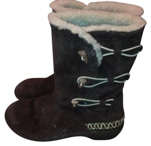 UGG Australia brown, cream and small amount of green detail, cream/white sheepskin interior Boots