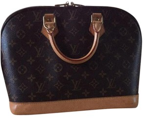 Louis Vuitton Monogram Alma Satchel Satchel in Brown