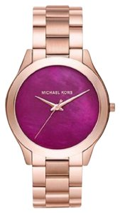 Michael Kors Michael Kors Slim Runway Rose Gold-Tone Three-Hand Watch