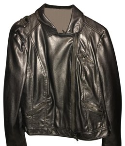 INC International Concepts Silver Leather Jacket