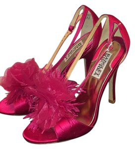 Badgley Mischka pink satin Formal