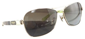 Coach New Coach HC 7012 L038 Carolina Gold Tortoise Metal Plastic Style Polarized Sunglasses