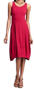 Eileen Fisher short dress Red Racerback Styling Side Panels Super Comfy Stretch Scoop Neck Sleeveless on Tradesy