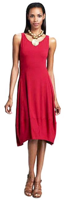 Eileen Fisher short dress Red Racerback Styling Side Panels Super Comfy Stretch Scoop Neck Sleeveless on Tradesy Image 1
