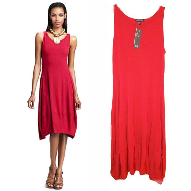 Eileen Fisher short dress Red Racerback Styling Side Panels Super Comfy Stretch Scoop Neck Sleeveless on Tradesy Image 2