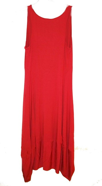Eileen Fisher short dress Red Racerback Styling Side Panels Super Comfy Stretch Scoop Neck Sleeveless on Tradesy Image 3