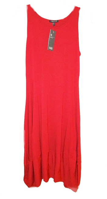 Eileen Fisher short dress Red Racerback Styling Side Panels Super Comfy Stretch Scoop Neck Sleeveless on Tradesy Image 4