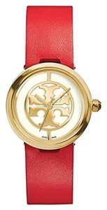 Tory Burch red gold reva watches