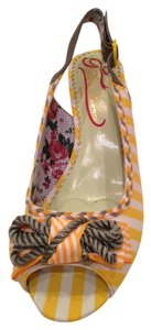 Poetic License Yellow/white stripe with grey strap Wedges