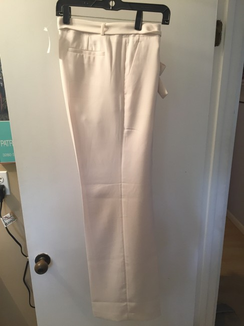 Banana Republic Belted Wide Leg Pants Cream Image 1