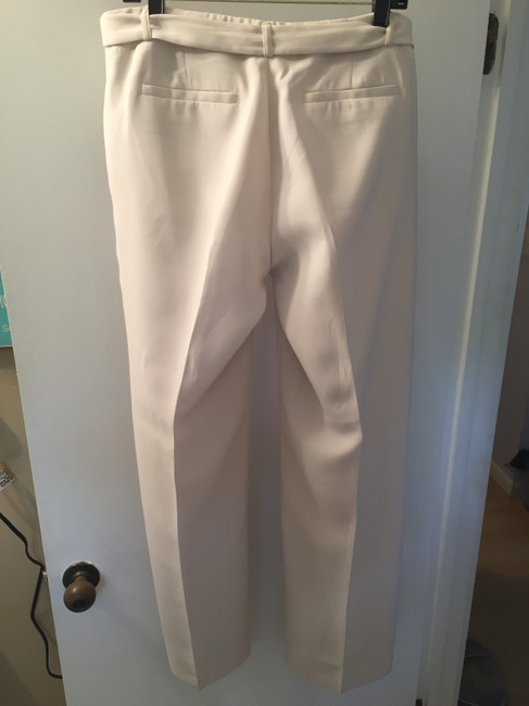 Banana Republic Belted Wide Leg Pants Cream Image 4